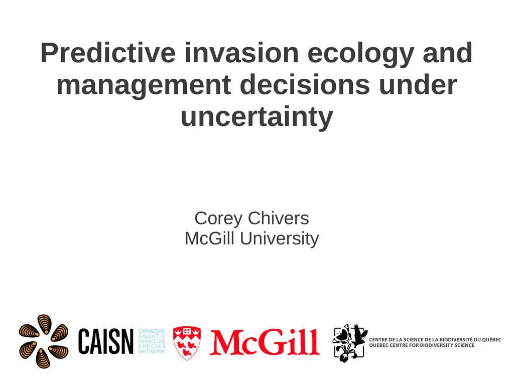 Predictive invasion ecology and management deci...