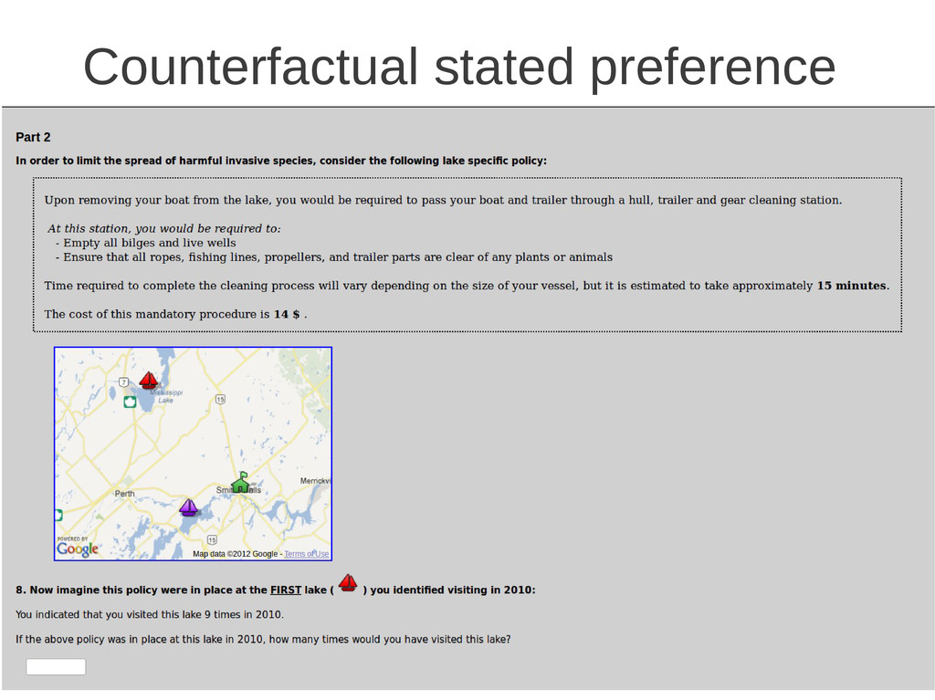 Counterfactual stated preference