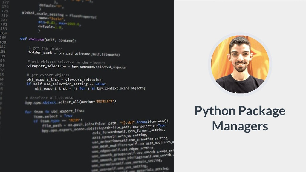 Python Package Managers