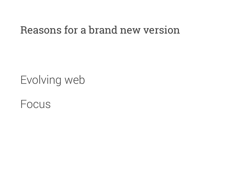 Evolving web Reasons for a brand new version Fo...