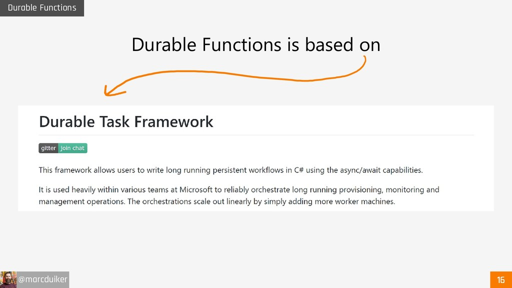 @marcduiker Durable Functions Durable Functions...