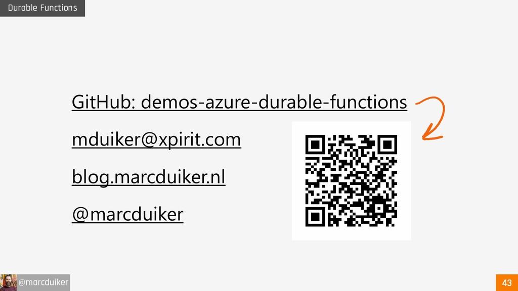 @marcduiker Durable Functions GitHub: demos-azu...