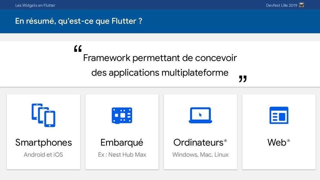 Les Widgets en Flutter Devfest Lille 2019  En r...