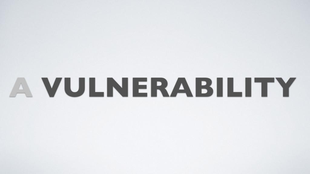 A VULNERABILITY