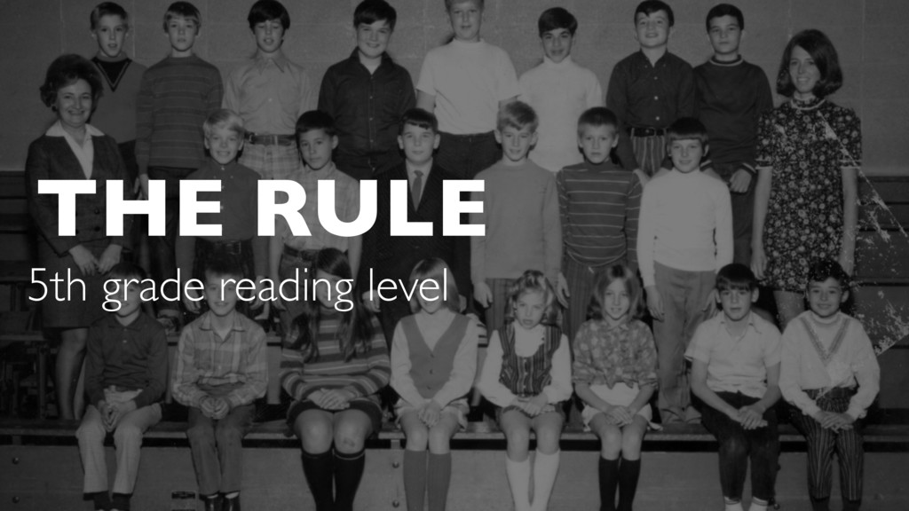THE RULE 5th grade reading level