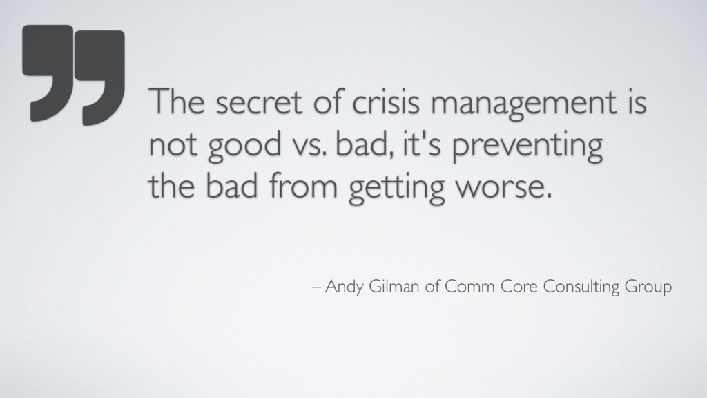 – Andy Gilman of Comm Core Consulting Group The...