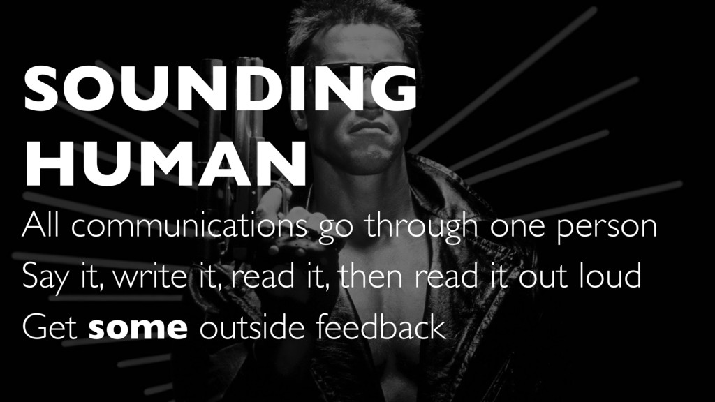 SOUNDING HUMAN All communications go through on...