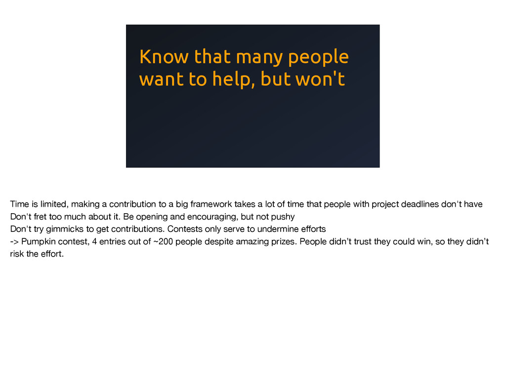 Know that many people want to help, but won't T...