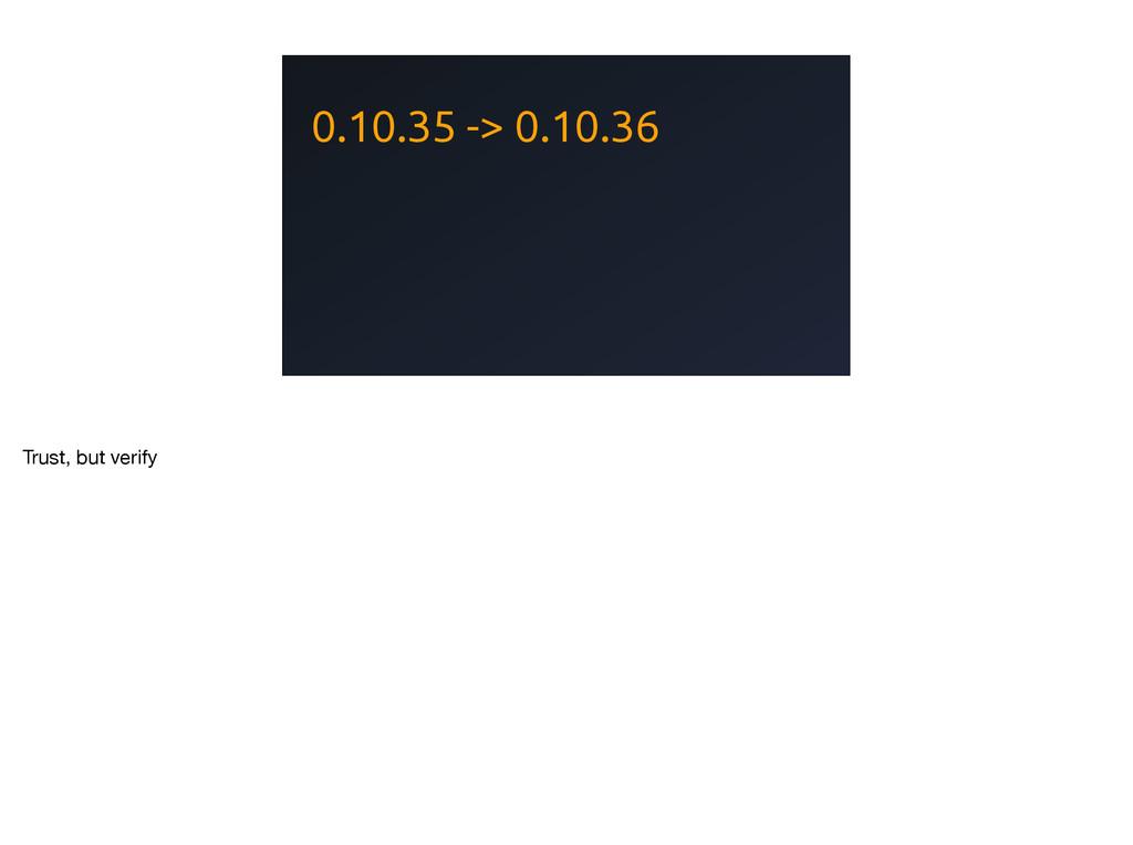 0.10.35 -> 0.10.36 Trust, but verify