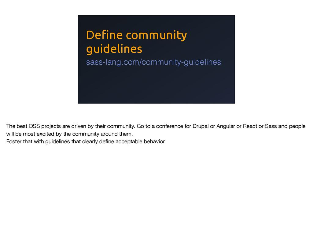 Define community guidelines sass-lang.com/commu...