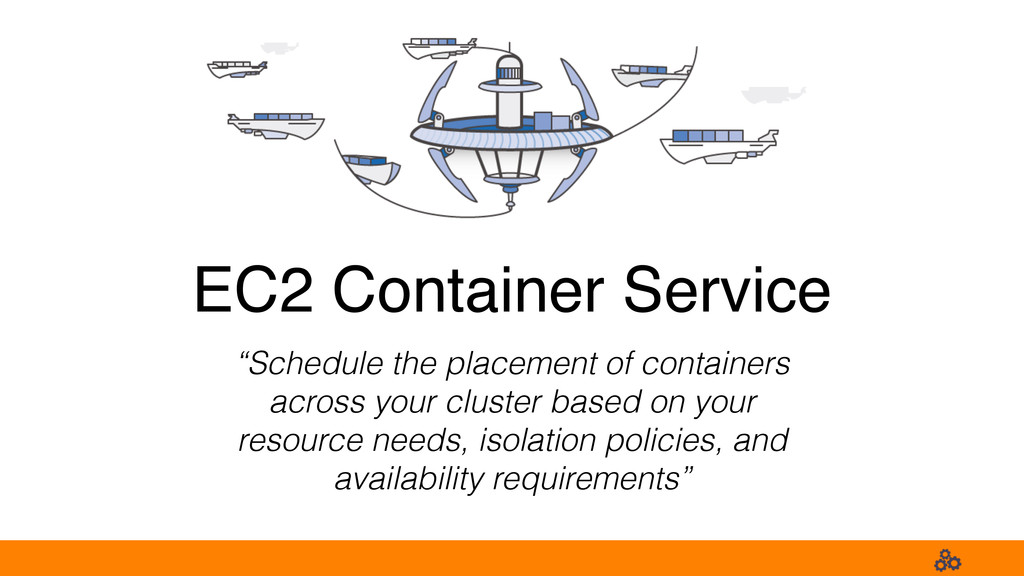 """EC2 Container Service """"Schedule the placement o..."""