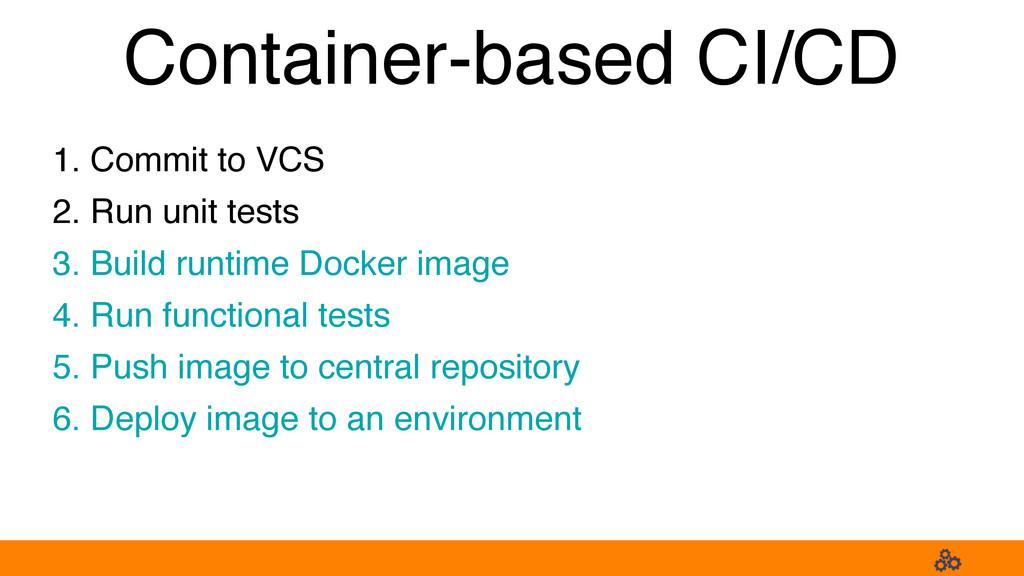 1. Commit to VCS 2. Run unit tests 3. Build run...