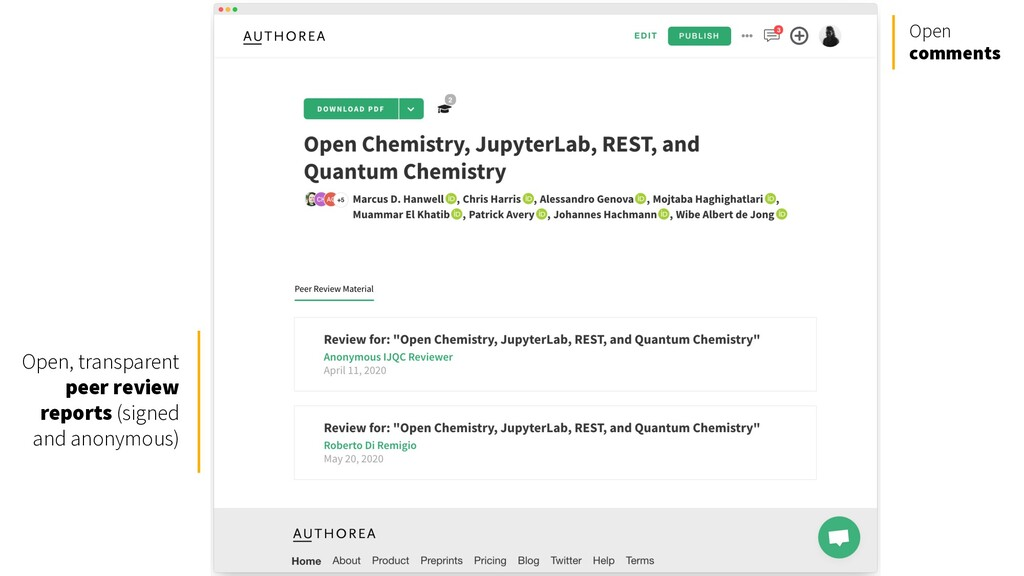 Open, transparent peer review reports (signed a...