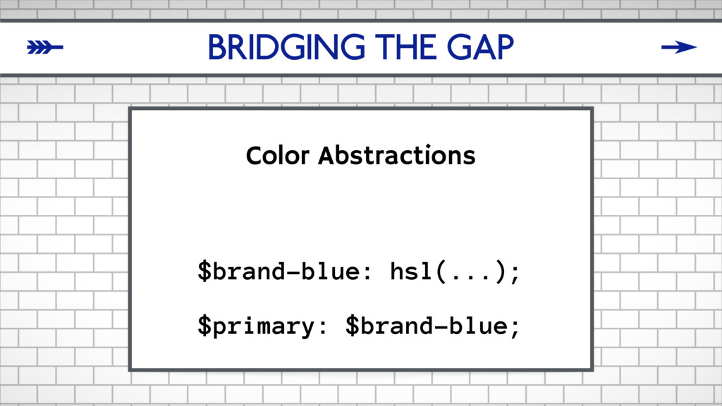 BRIDGING THE GAP Color Abstractions $brand-blue...