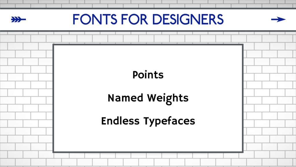 FONTS FOR DESIGNERS Points Named Weights Endles...