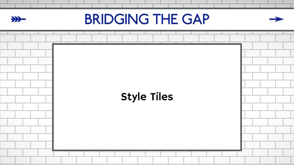 BRIDGING THE GAP Style Tiles δ ζ