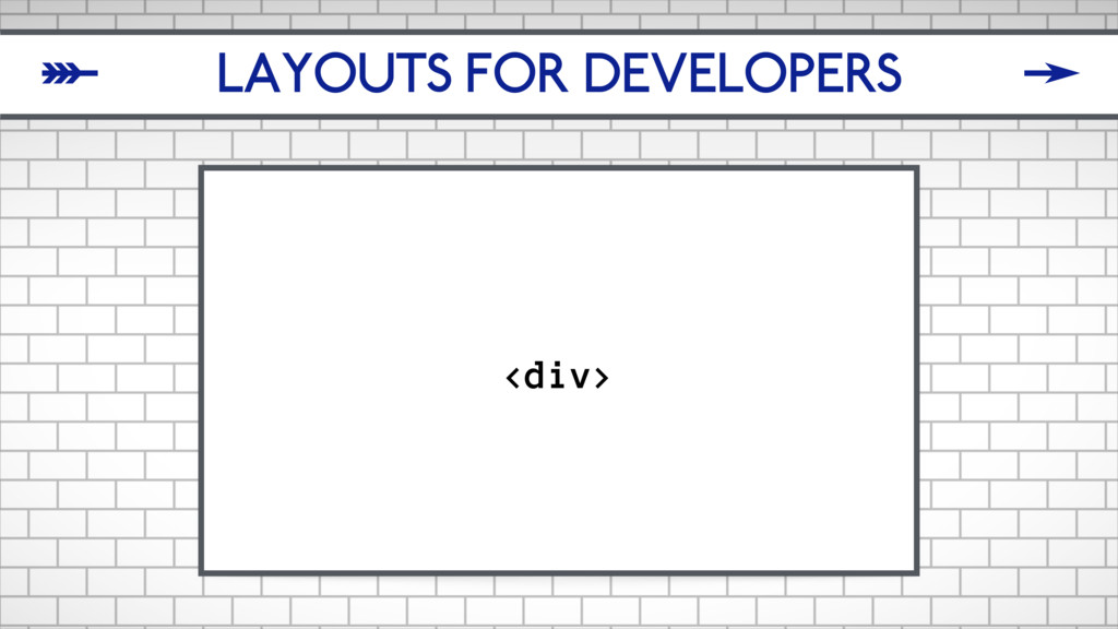 LAYOUTS FOR DEVELOPERS <div> δ ζ