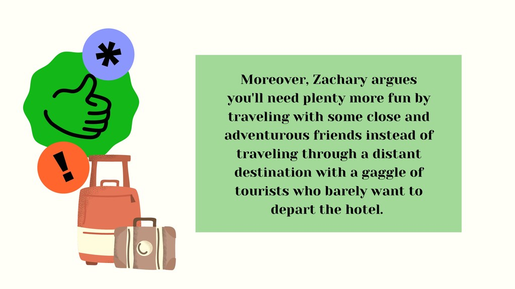 ! * Moreover, Zachary argues you'll need plenty...