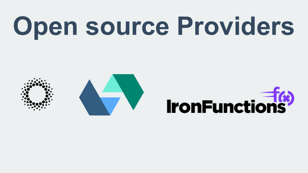 Open source Providers