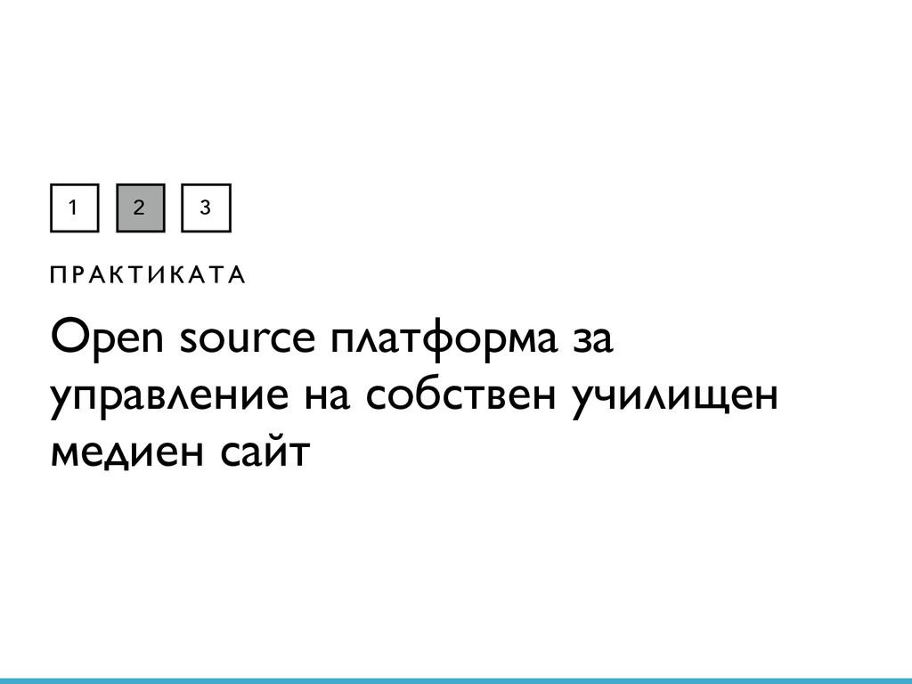 1 2 3 П Р А К Т И К А Т А Open source платформа...