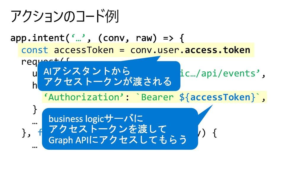 '…' const accessToken = conv.user.ac...