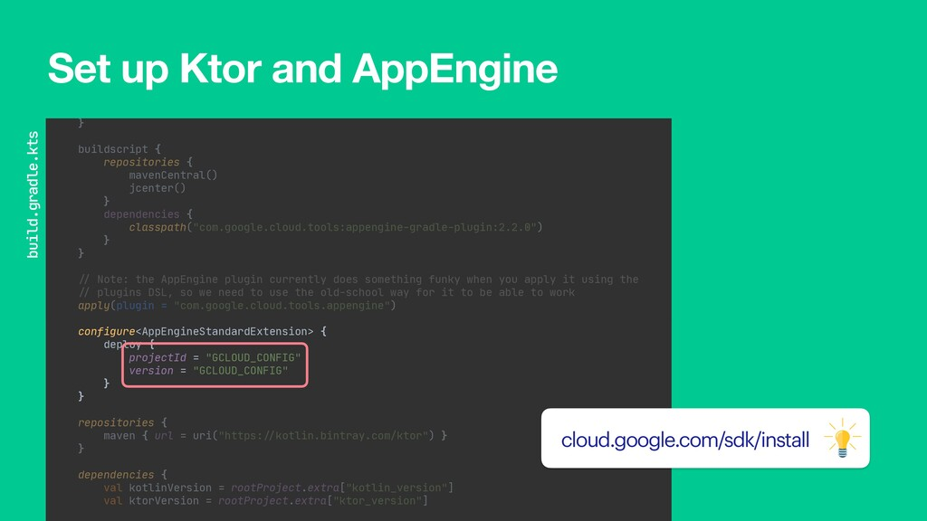 import com.google.cloud.tools.gradle.appengine....
