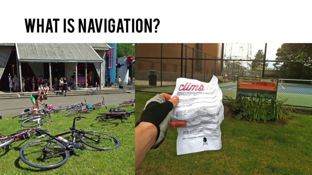 What is navigation?