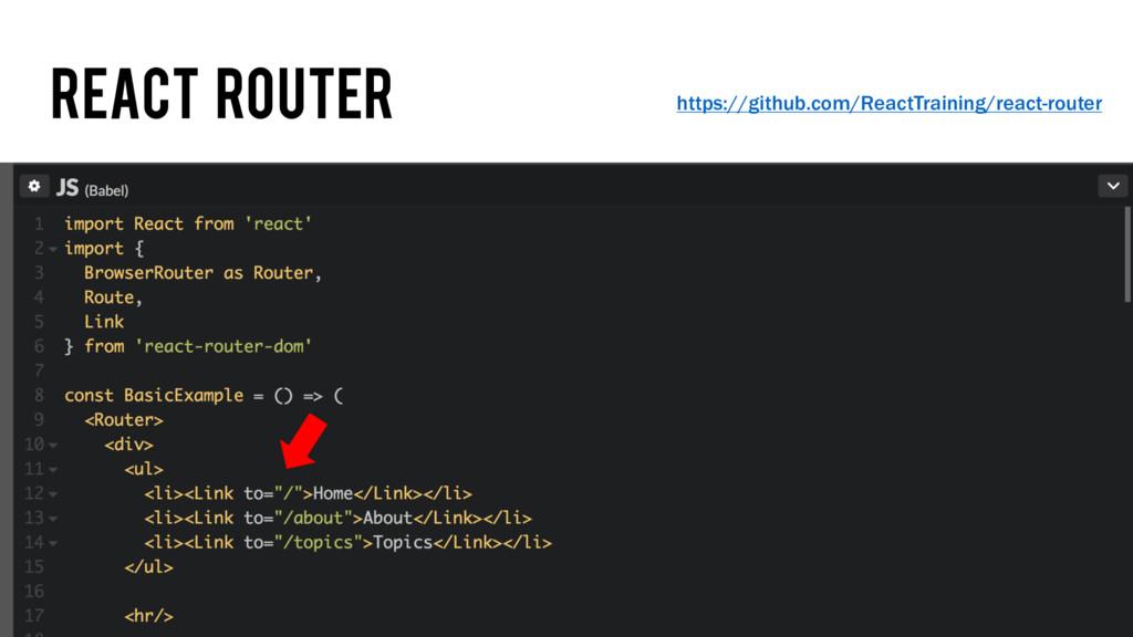 React Router https://github.com/ReactTraining/r...