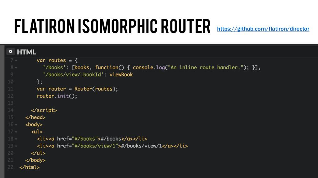 Flatiron isomorphic router https://github.com/f...