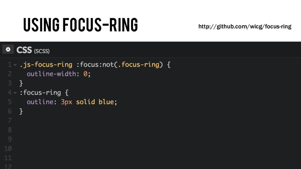 Using focus-ring http://github.com/wicg/focus-r...