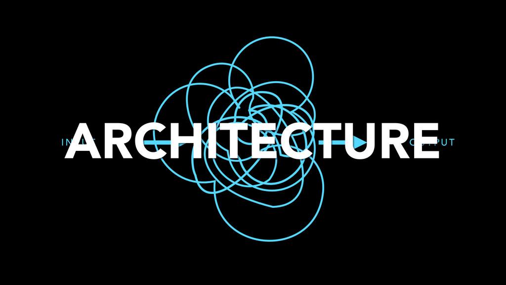 I N P U T O U T P U T ARCHITECTURE