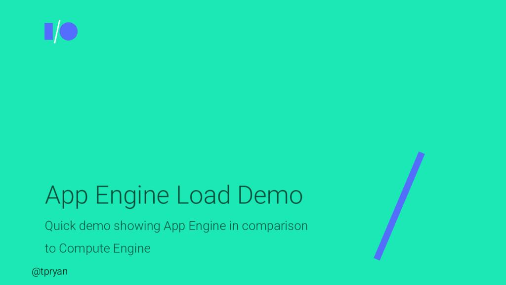 @tpryan App Engine Load Demo Quick demo showing...
