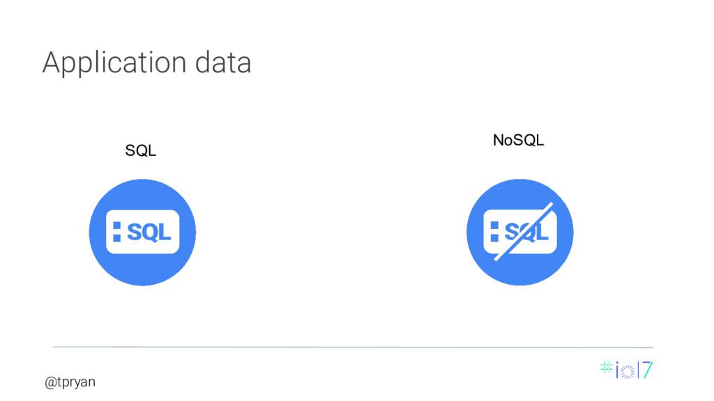 @tpryan NoSQL Application data SQL