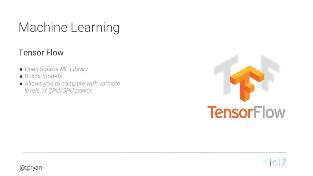 @tpryan Machine Learning ● Open Source ML Libra...