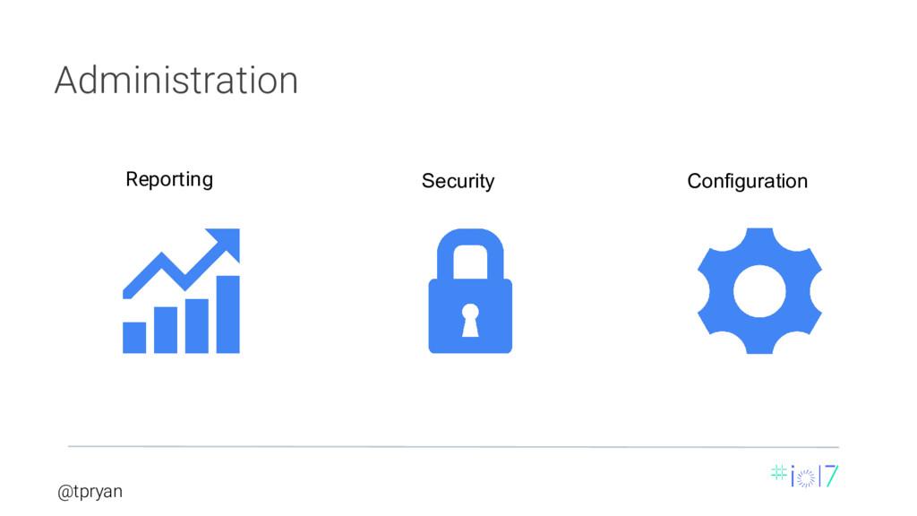 @tpryan Reporting Security Configuration Admini...