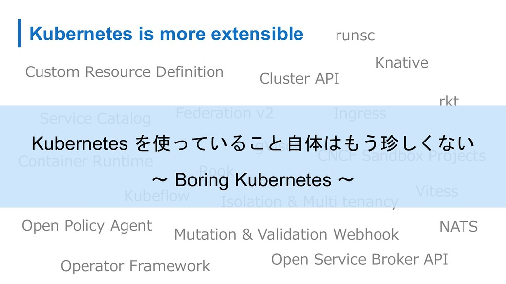 Kubernetes is more extensible C A D C DBC B DA ...