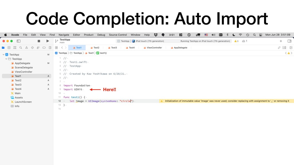 Code Completion: Auto Import Here!!