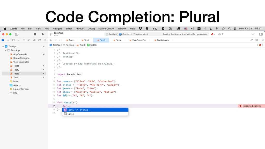 Code Completion: Plural