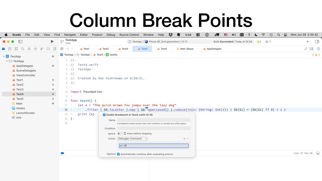 Column Break Points