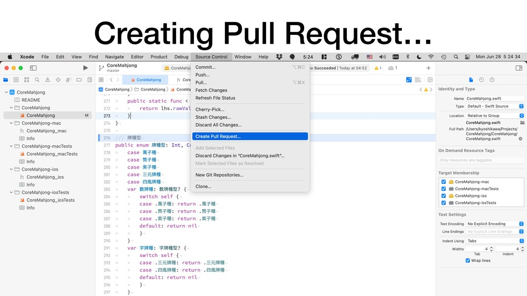 Creating Pull Request…