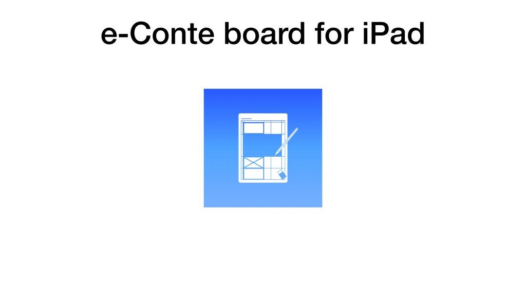 e-Conte board for iPad