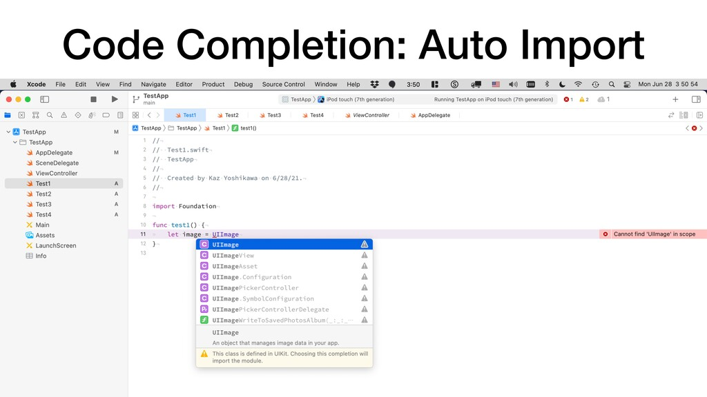 Code Completion: Auto Import