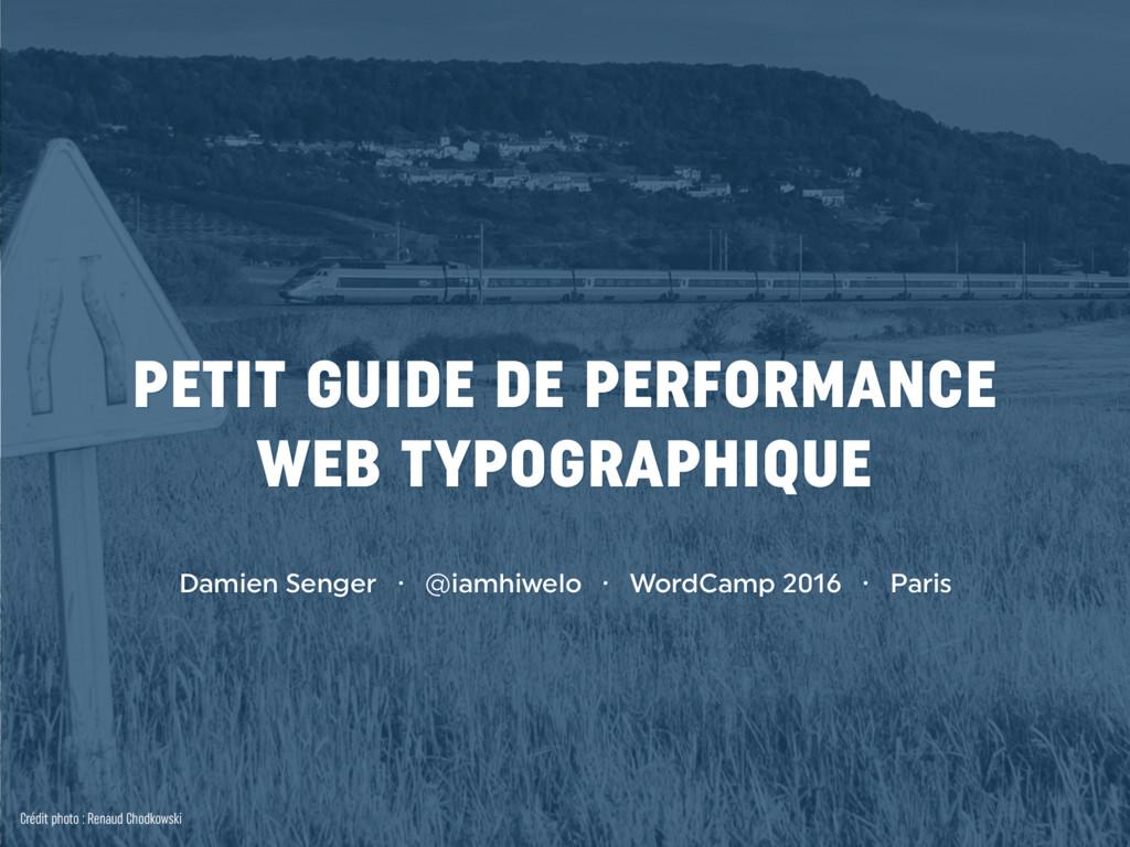 PETIT GUIDE DE PERFORMANCE WEB TYPOGRAPHIQUE D...