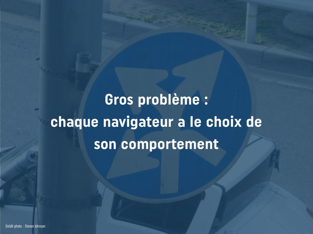 Gros problème : chaque navigateur a le choix de...