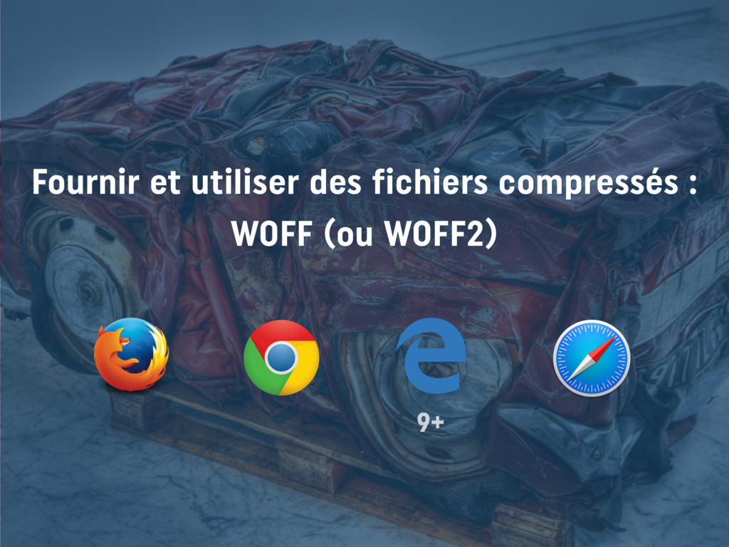 Fournir et utiliser des fichiers compressés : ...