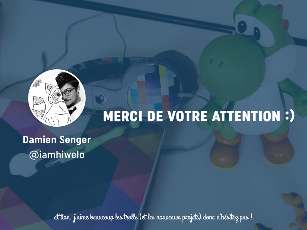 t MERCI DE VOTRE ATTENTION :) Damien Senger @i...