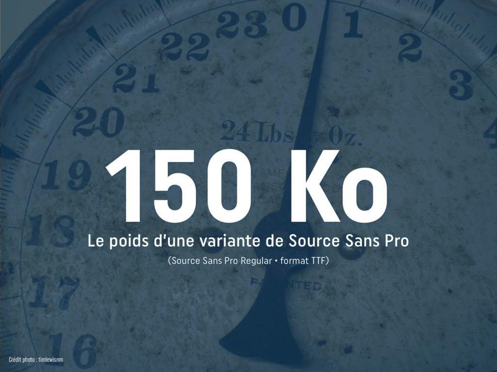 Le poids d'une variante de Source Sans Pro (So...