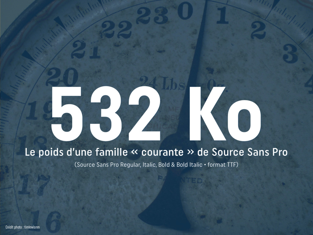 Le poids d'une famille « courante » de Source S...