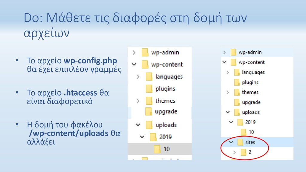 Do: Μάθετε τις διαφορές στη δομή των αρχείων • ...