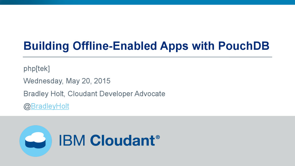 Building Offline-Enabled Apps with PouchDB php[...